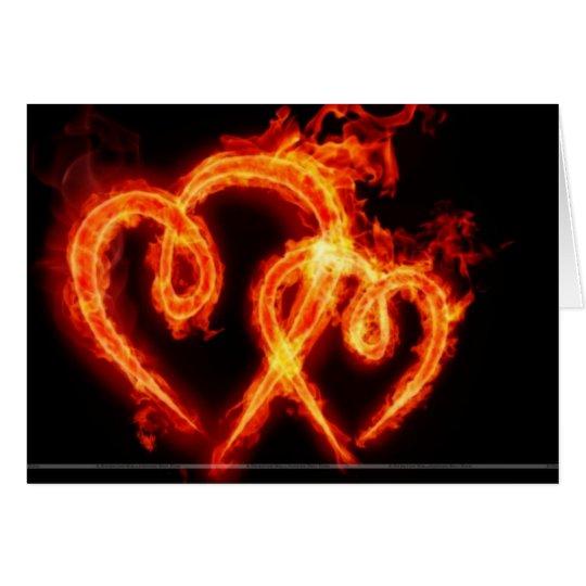 Lodernde Herz Valenties Tageskarte Karte