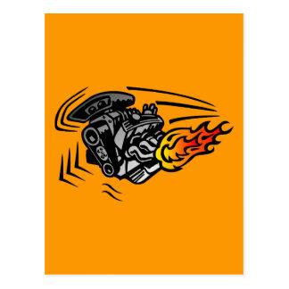 Lodernder Motor Postkarte