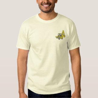 Löffelbagger Besticktes T-Shirt