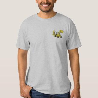 Löffelbagger-Lader Besticktes T-Shirt
