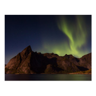 Lofoten - Nordlichter über Olstind Postkarte