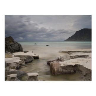 Lofoten - Skagsanden Strandpostkarte kein Text Postkarte
