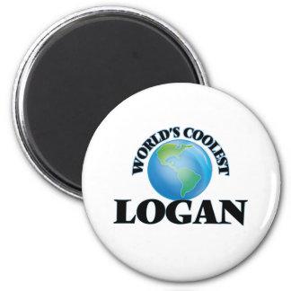 Logan le plus frais du monde magnet rond 8 cm