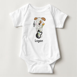 Logans Rock-and-Rollwelpe Baby Strampler