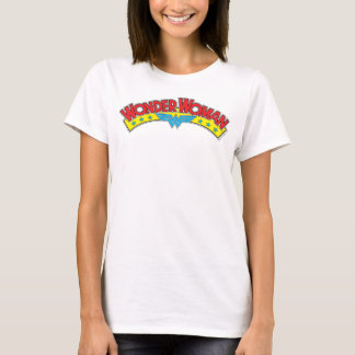 Logo 1987 de bande dessinée de femme de merveille t-shirt