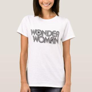 Logo 3 de la femme de merveille B&W T-shirt