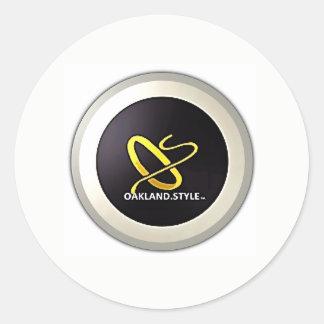 Logo-Aufkleber OSs mit Absicht Runder Aufkleber