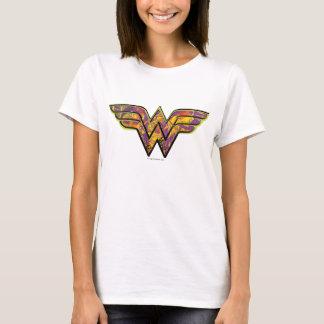 Logo coloré de femme de merveille t-shirt