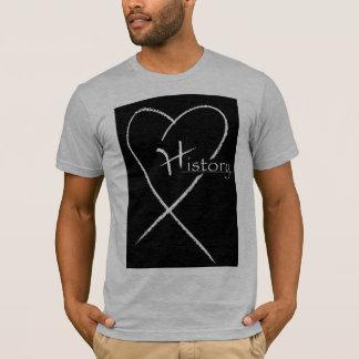 Logo de coeur d'histoire t-shirt