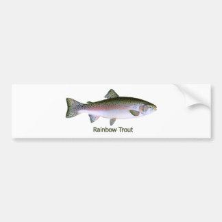 Logo de pêche de truite arc-en-ciel adhésifs pour voiture