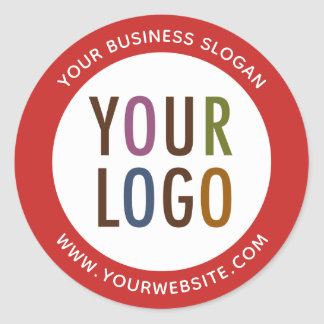 Logo de Round Promotional Business Stickers