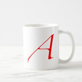 "Logo des Atheisten ""A"" Kaffeetasse"