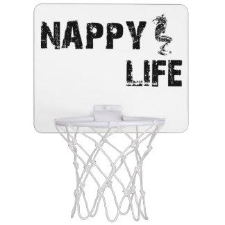 Logo des Windel-Leben-Minibasketball-Ziel-w/Black Mini Basketball Netz
