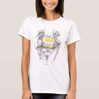 Logo esquissé de Superman de coffre T-shirt