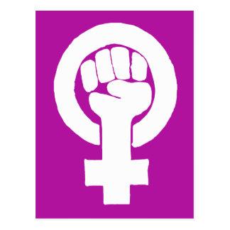 Logo, Feminist/feminista, Gleichheit/igualidad: Postkarte