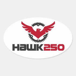 Logo-Oval-Aufkleber des Falke-250 Ovaler Aufkleber