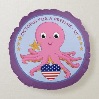 Logo-runde Wurfs-Kissen-Krake für ein Frühchen US Rundes Kissen