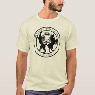 Logo-Schwarzes des Geheimagent-MI6 T-Shirt