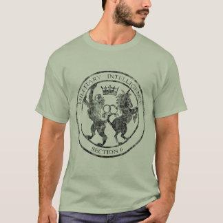 Logo-Schwarzes des Geheimagent-MI-6 beunruhigt T-Shirt