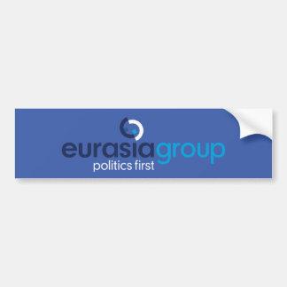 Logo + Slogan hellblau Autoaufkleber