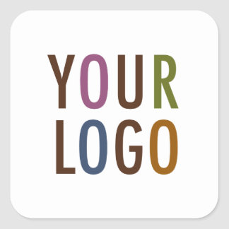 Logo Square Promotional Business Stickers Company