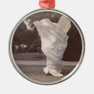 Loie volleres Tanzen Rundes Silberfarbenes Ornament