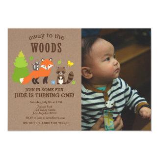 Loin à l'invitation de garçon d'anniversaire en carton d'invitation  12,7 cm x 17,78 cm