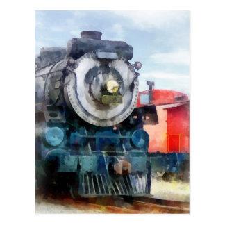 Lokomotive und Kombüse Postkarte