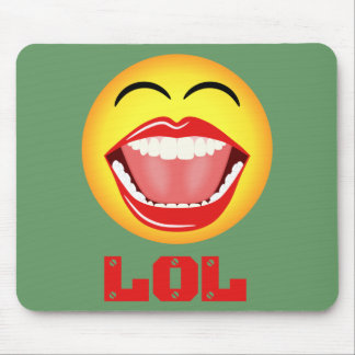 LOL gelber Smiley-Spaß Mousepad Mousemat