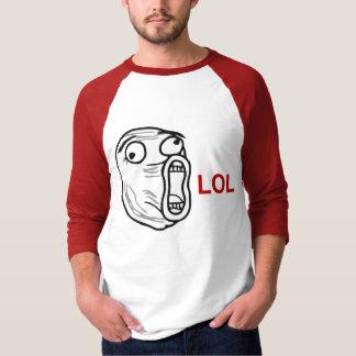 LOL Lachen-heraus lautes Raserei-Gesicht Meme Tshirt