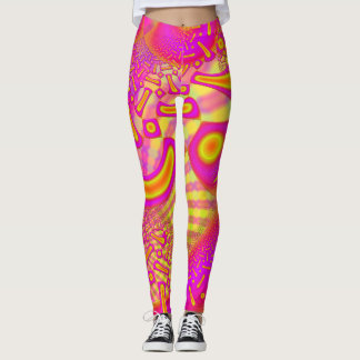 LollyPoP 3D fixiertes GlasFraktal Leggings