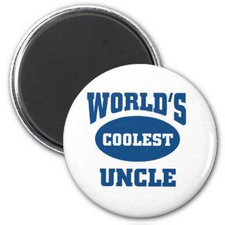 L'oncle le plus frais magnet rond 8 cm
