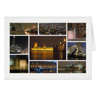 London am Nachtc$multibild Grußkarte