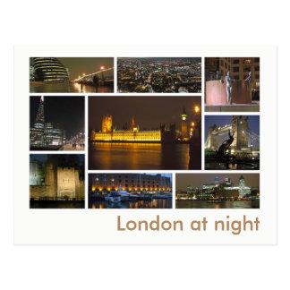 London am Nachtc$multibild Postkarte