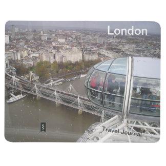 London-Augen-Bestimmungsort-Reise-Zeitschrift Taschennotizbuch