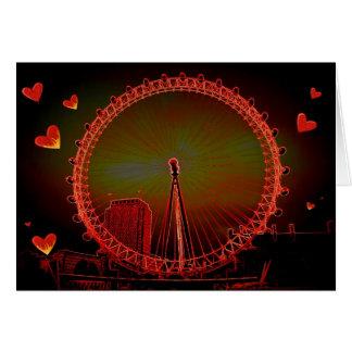London-Augen-Valentinsgruß Karte