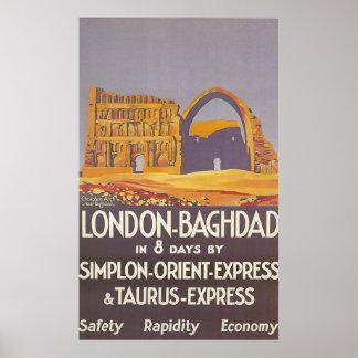 London Bagdad simplon Orientexpress Poster
