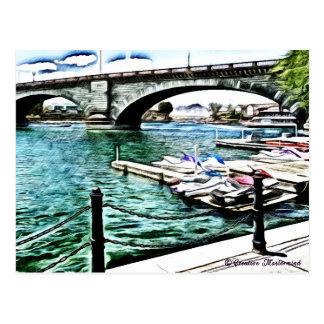 London-Brücke an Lake- Havasustadt, Arizona Postkarte
