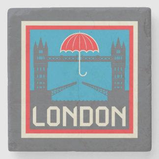 London-Brücke mit Regenschirm Steinuntersetzer