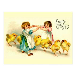 London-Brücken-glückliches Ostern-niedliches Postkarte