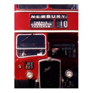 London-Bus Newbury Postkarte