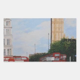 London-Ecke Rechteckiger Aufkleber