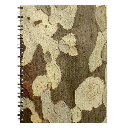 London-Flugzeug-Baum-Barken-Foto-Notizbuch Spiral Notizbuch