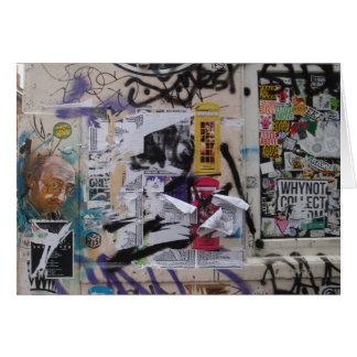 London-Graffiti Grußkarte