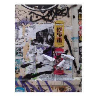 London-Graffiti Postkarte