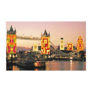 London-Herbst-Collage Leinwanddruck