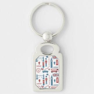 London-Ikonen-Retro Liebe-Andenkenmetallkeychain Schlüsselanhänger