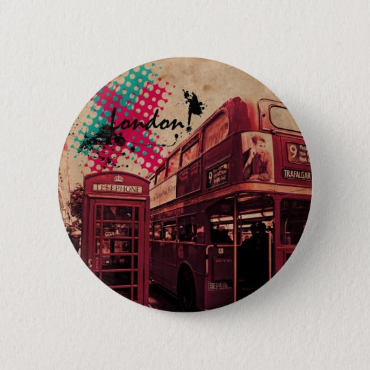 London-Liebe! Runder Button 5,1 Cm