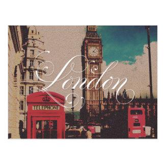 London-Sehenswürdigkeit-Vintages Foto Postkarten