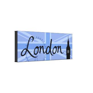 London-Skript u. Gewerkschafts-Jack-Himmel u. Leinwanddruck